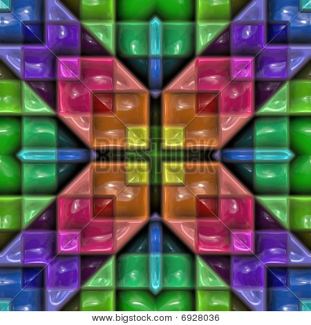 Colorful Plastic Kaleideoscope Pattern