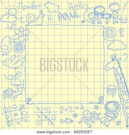 Doodles frame