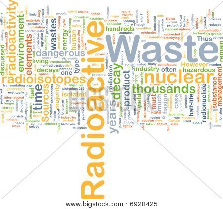 Radioactive Waste Background Concept