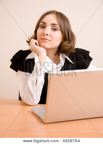 Young Businesswoman Looking To The Camera