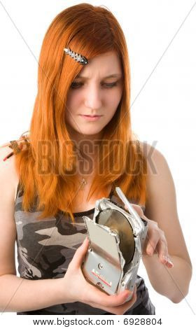 Girl With Broken Hard Drive