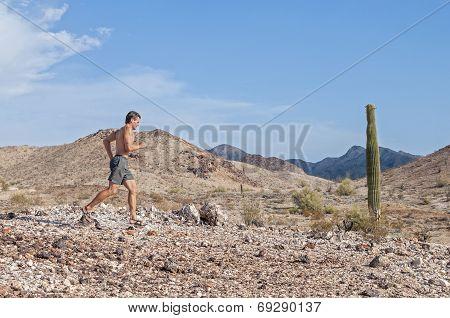 Running In Desert Landscape