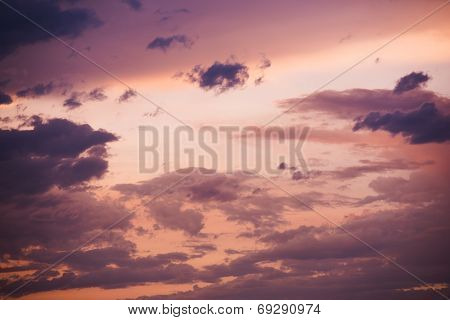 Pinky Sunset Sky Background