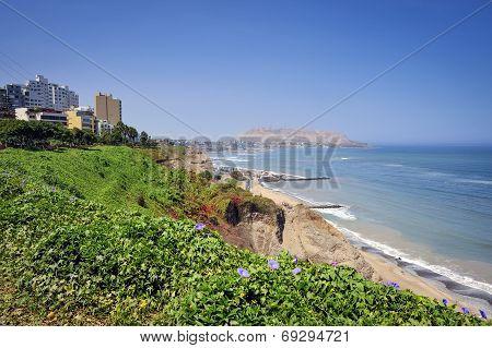 Miraflores District Landscapes In Lima, Peru