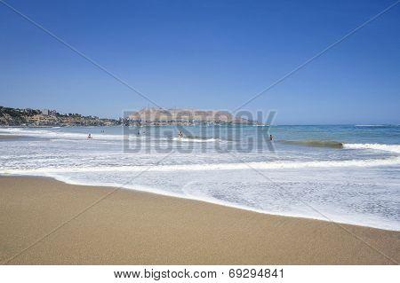 Beach In Miraflores District In Lima, Peru