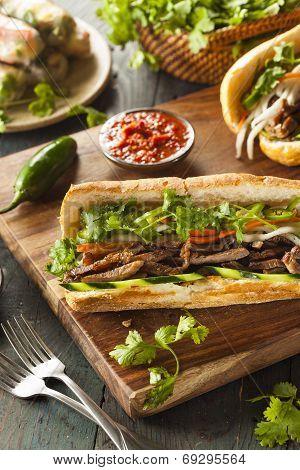 Vietnamese Pork Banh Mi Sandwich