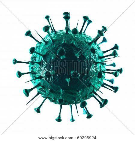 Sars Virus II - Isolated on White