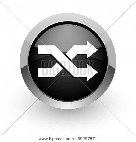 aleatory black chrome glossy web icon