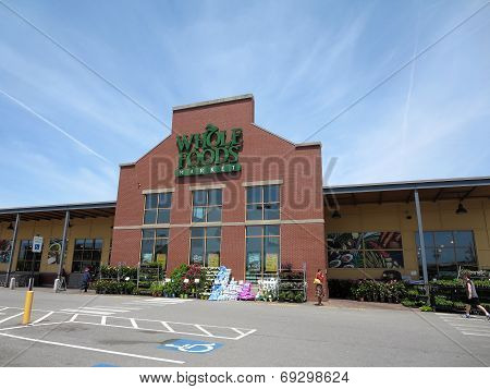 Whole Food Market Exterior And Sign On A Clear Day