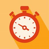 stock photo of orange  - Clock Icon - JPG