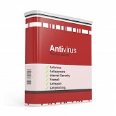 pic of antivirus  - Antivirus software box isolated on white background - JPG
