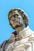 foto of patron  - Statue of Sao Vicente the patron saint of Lisbon  - JPG