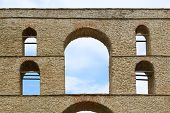 picture of aqueduct  - Arch at old Byzantine aqueduct in Kavala Greece - JPG