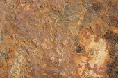 stock photo of oxidation  - Rusty old brown oxidized metal grunge background - JPG