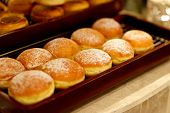picture of buffet  - Breakfast buffet sweet bakeries in a hotel restaurant - JPG