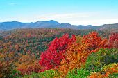 stock photo of blue ridge mountains  - Autumn in the mountains of western North Carolina - JPG