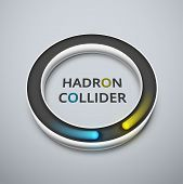 stock photo of higgs boson  - Abstract hadron collider - JPG