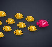 stock photo of working animal  - Team leader idea concept - JPG