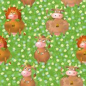 picture of moo-cow  - Seamless pattern - JPG
