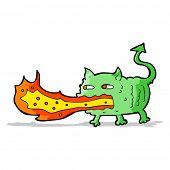 picture of fire-breathing  - cartoon fire breathing imp - JPG