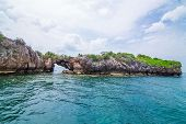 picture of chums  - Tropical rock island against blue sky and sea Chum porn Thailand - JPG