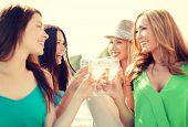 foto of champagne glasses  - summer holidays - JPG