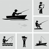 picture of fly rod  - Fishing icons - JPG