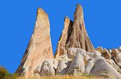 foto of cave-dweller  - Probably the best known feature of Cappadocia, Turkey found in its very heart, are the fairy chimneys of Goreme and its surrounding villages