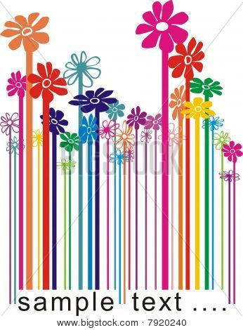 Floral Color Bar code