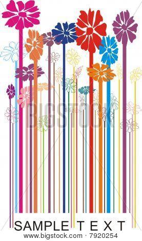 Vector Bar-code Floral