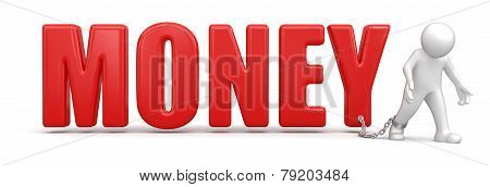 Man and Money (clipping path included)