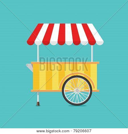 Retro Vector Ice Cream Cart