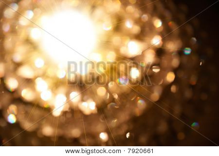 Golden Particle Of Lights