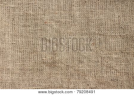 Natural jute sackcloth texture background