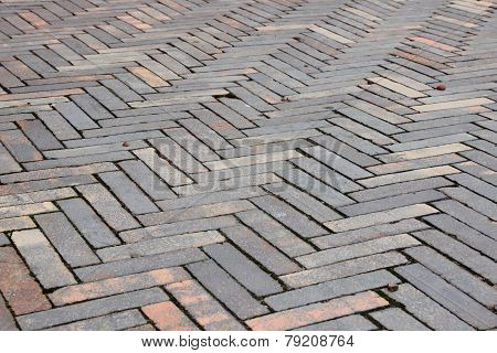 Perspective Of Striped Clay Tile Surface Texture