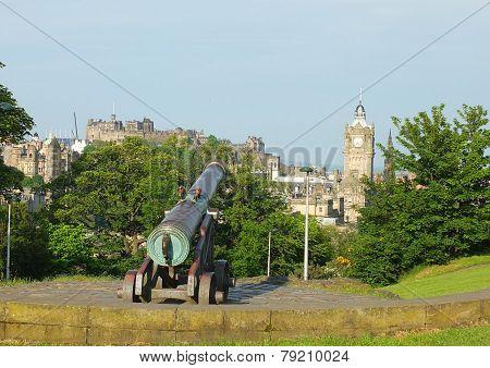 Portuguese Gun on Calton Hill, Edinburgh