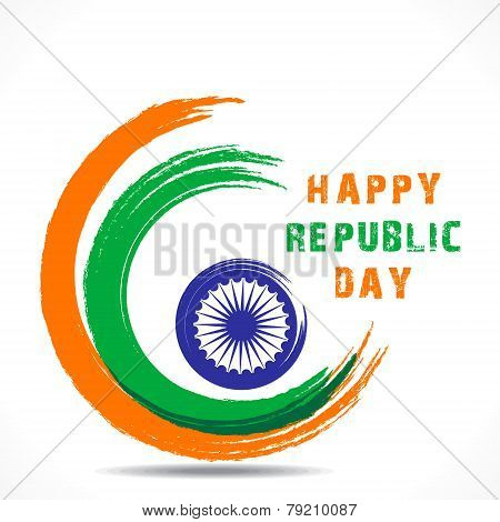 happy republic day greeting design vector