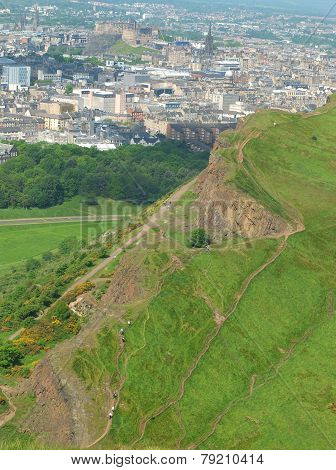 Salisbury Crags seen from Arthur's seat