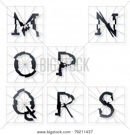 Broken Font M To S