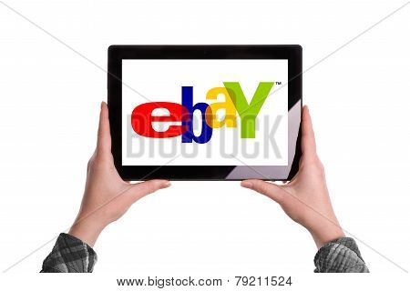 Ebay Logo On Digital Tablet