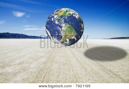 Earth Image Over The Black Rock Desert Playa