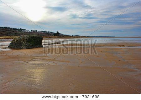 Omaha Beach In Normandy France