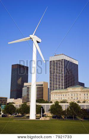 Wind Turbine In Cleveland