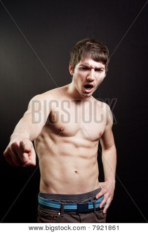 Scream Of Muscular Sexy Man