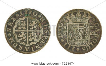 1770 Spanish 2 Real Coin