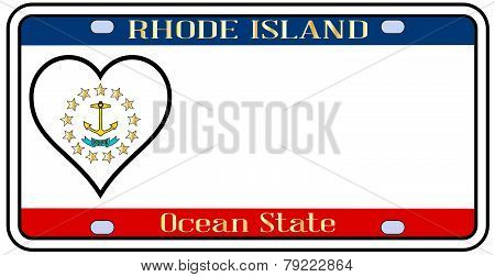 Rhode Island State License Plate