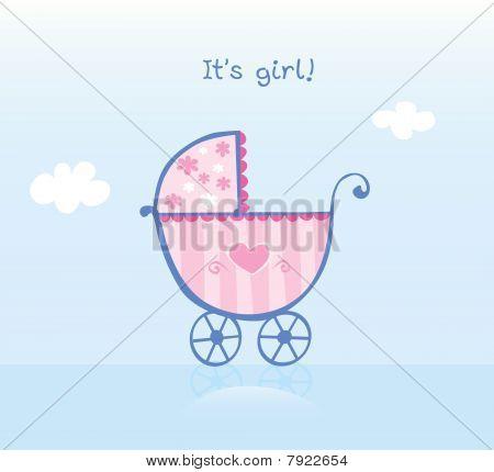 Pink Pram For Girl