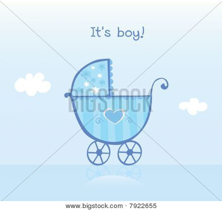 Blue Pram For Boy