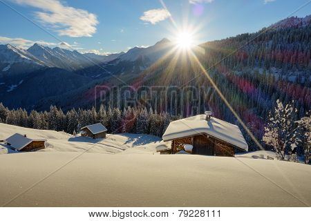 Ski chalet in the mountains of Tyrol