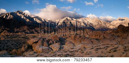 Alpine Sunrise Alabama Hills Sierra Nevada Range California